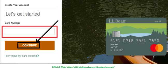 llbean credit card set up your account2