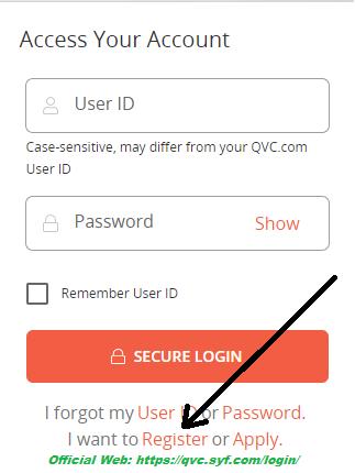 QVC Credit Card register online 1