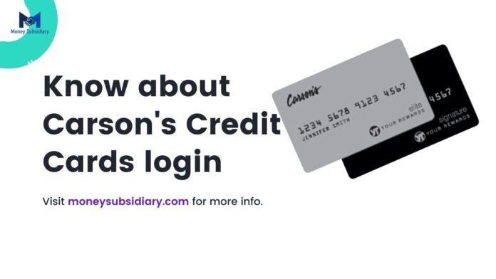 carson's credit card login