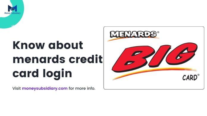 Menards Credit Card login