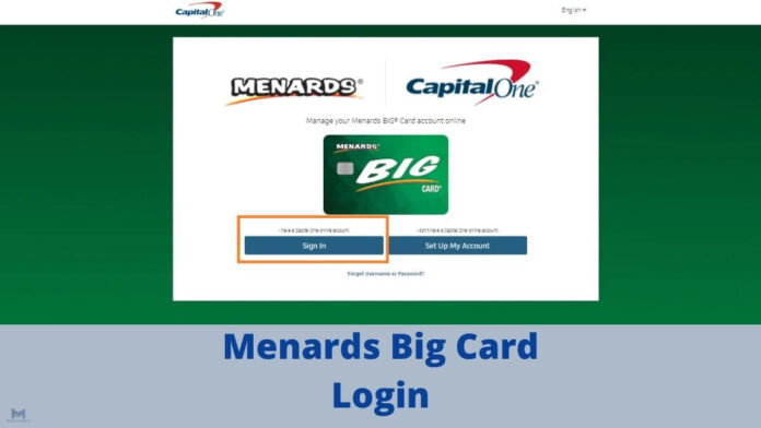 Menards Big Card Login